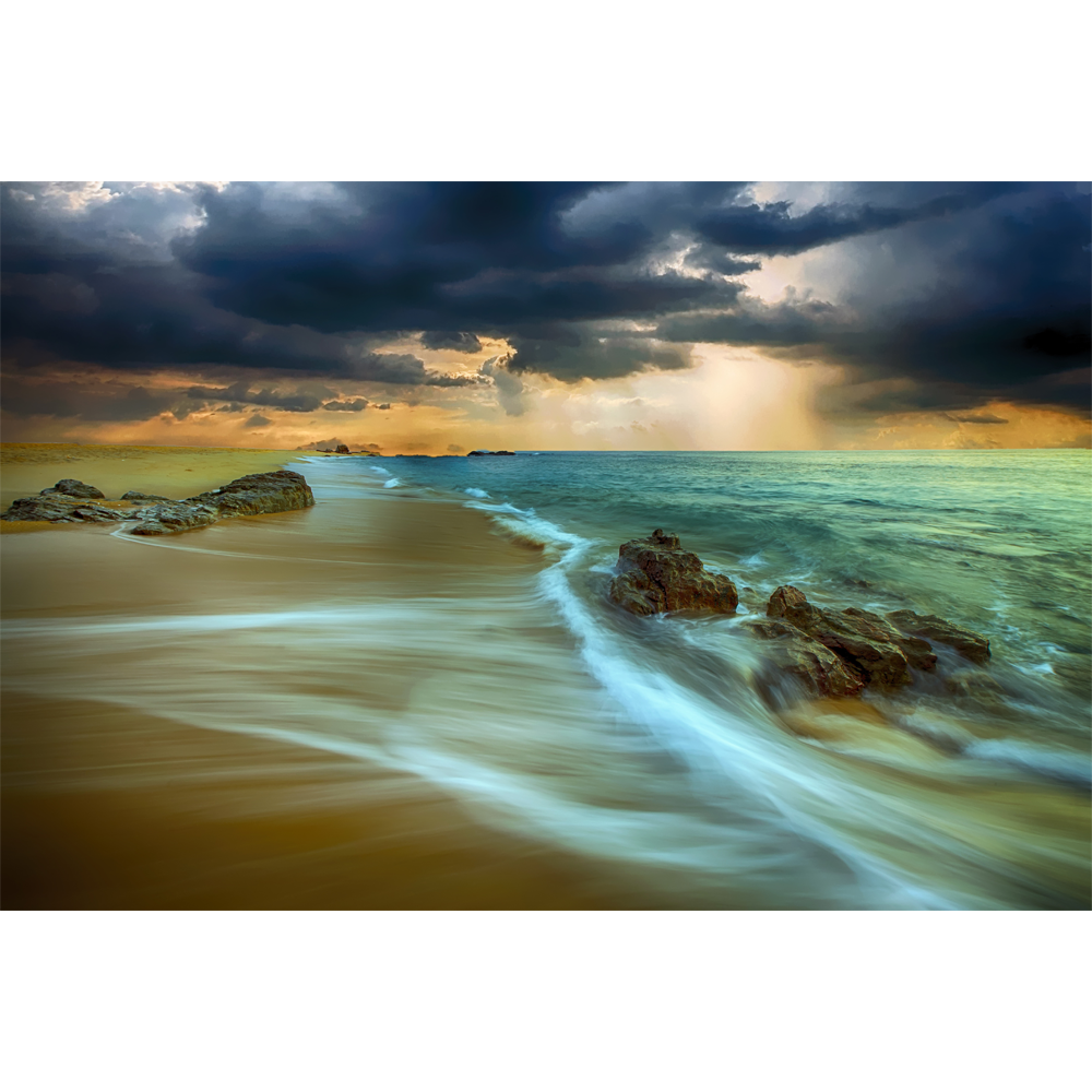 Beach Glow - Canvas Wall Art 1 Panel