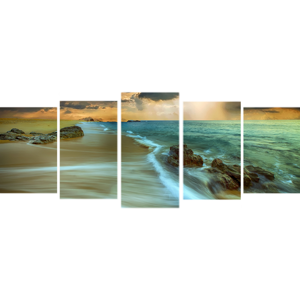 Beach Glow - Canvas Wall Art 5 Panel