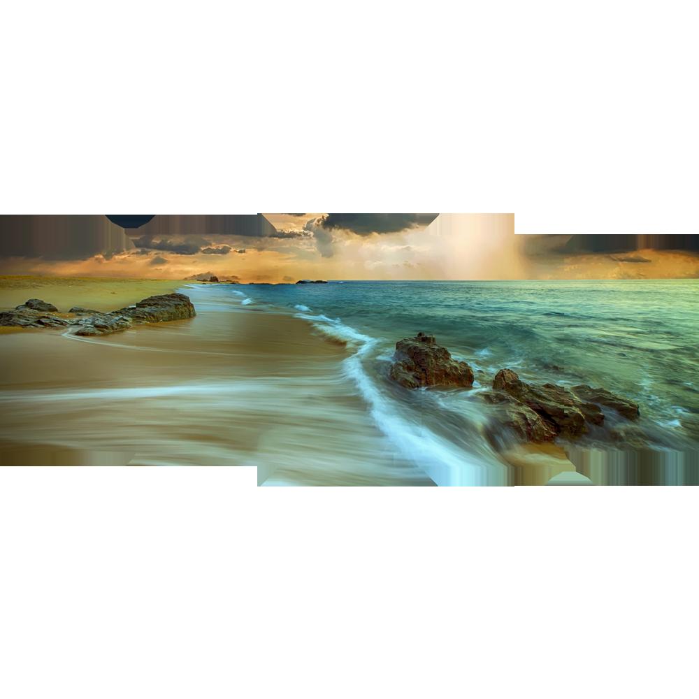 Beach Glow - Canvas Wall Art 5 Panel