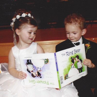 The Flower Girl, The Ring Bear: A Flip-Over Book